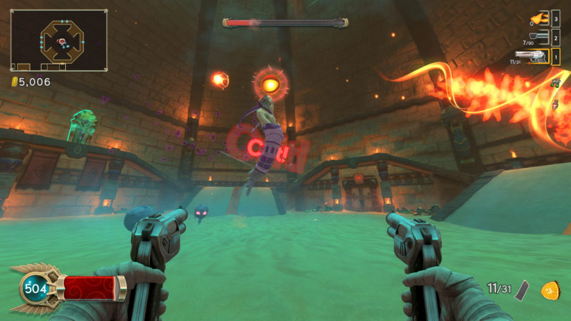 Jeu Immortal Redneck sur Nintendo Switch : phase à double pistolets