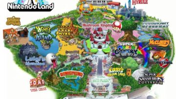 Plan du parc Nintendo Land (Nintendo World Land)