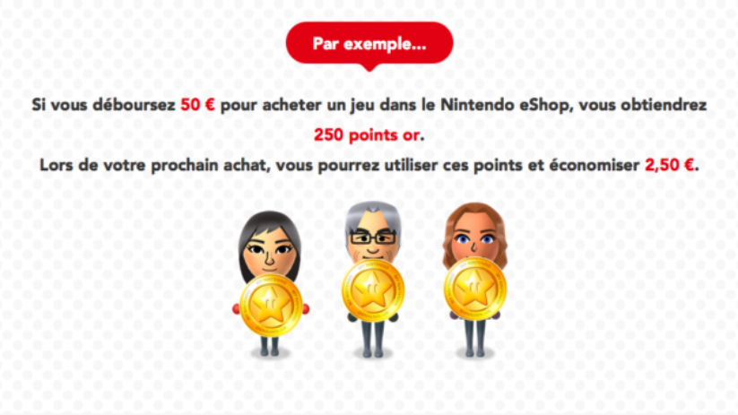 Utilisation des points or My Nintendo sur l'eShop de la Nintendo Switch : exemple de réduction