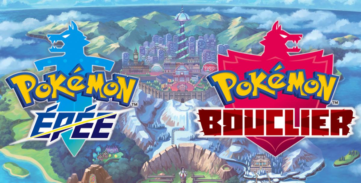 Jeu Pokémon Épée et Pokémon Bouclier sur Nintendo Switch : artwork de présentation