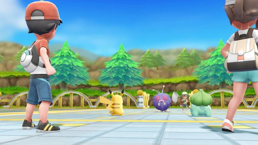 Screenshot du jeu Pokemon Let's Go sur Nintendo Switch : combat de pokemons
