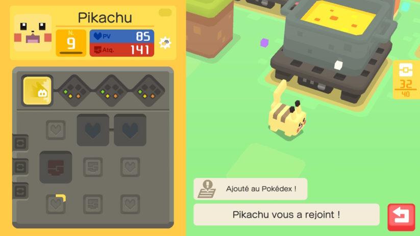 Et voilà un Pikachu a été attrapé !