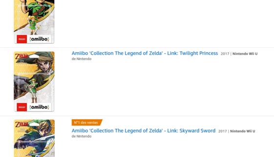 Amiibos Link Majora's Mask, Link Skyward Sword et Link Twilight Princess : précommande disponible, restock en juin