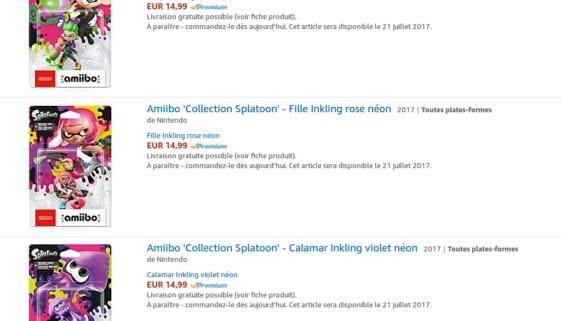 Amiibos Splatoon 2 Garçon, Fille et Calamar Inklinkg néon : précommande disponible