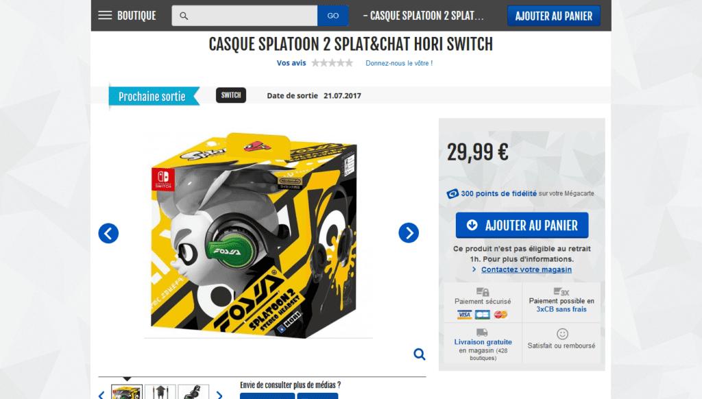Précommande : le casque officiel Splatoon 2 Splat&chat Hori est là !