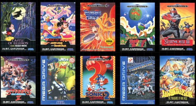 10 autres jeux annoncés sur MegaDrive Mini : Earthworm Jim, Streets of Rage II, Sonic the Hedgehog II, Castle of Illusion, Landstalker, Probotector, Shinobi III, Super Fantasy Zone, Thunder Force III et World of Illusion.