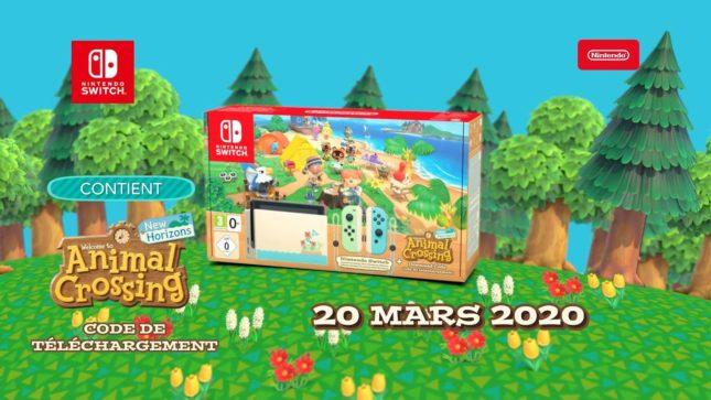 Précommande Nintendo Switch Animal Crossing: New Horizons pour le 20 mars 2020