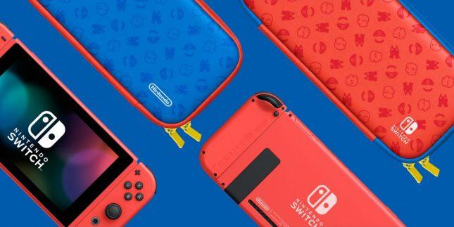 Console Nintendo Switch Super Mario Edition Limitée : protection écran et sacoche de transport disponibles