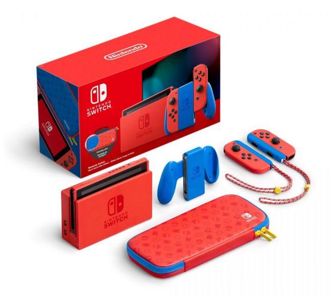 Console Nintendo Switch Super Mario Edition Limitée : contenu du pack