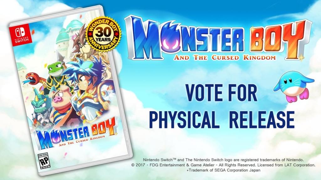 Vous voulez une version boite pour Monster Boy and the Cursed Kingdom sur Switch ? Cliquez !