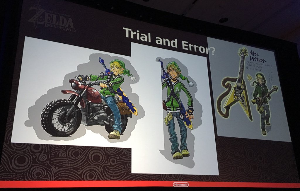 Les différents prototypes de Link pour Zelda Breath of the Wild