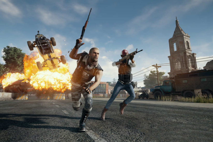 PlayerUnknown's Battlegrounds : explosion d'une voiture