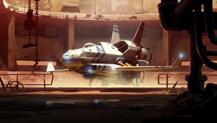 Jeu Rebel Galaxy Outlaw sur Nintendo Switch : artwork d'un des vaisseaux