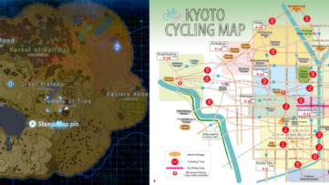 Kyoto aurait inspiré la carte de Zelda : Breath of the Wild
