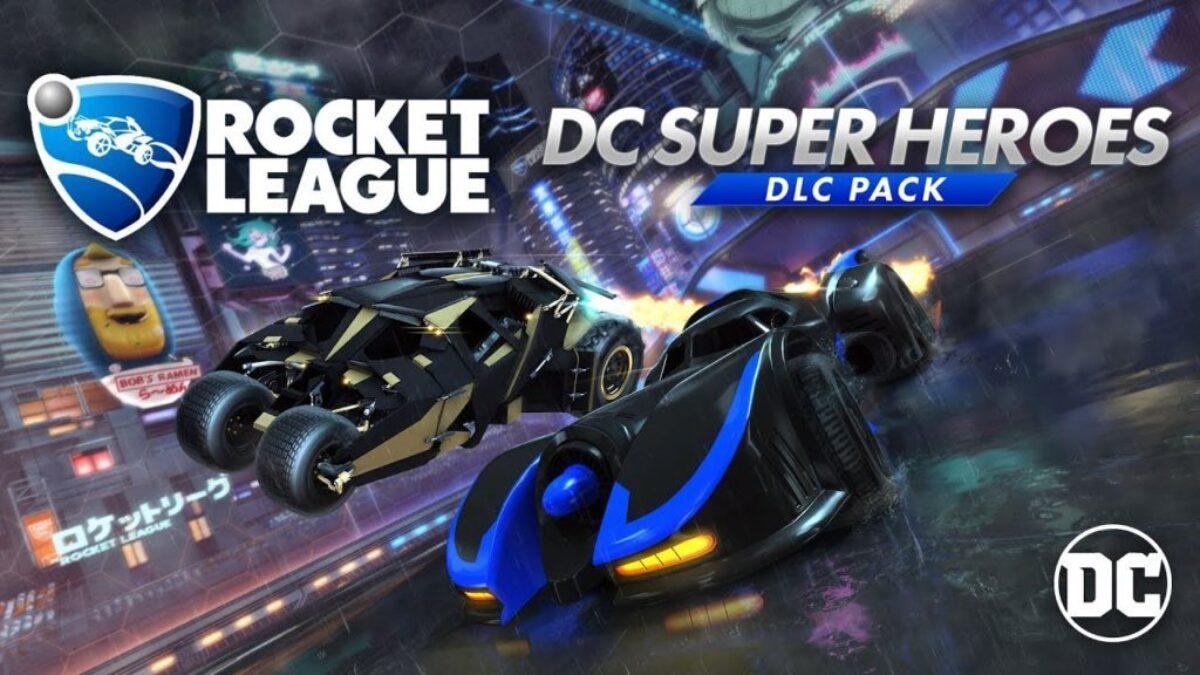 Jeu Rocket League sur Nintendo Switch : cover du DLC DC Heroes du 5 mars 2018