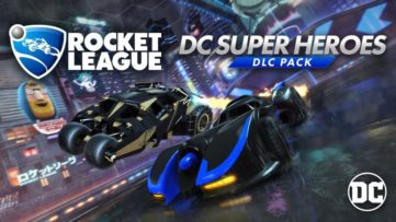 Jeu Rocket League sur Nintendo Switch : cover du DLC DC Heroes du 5 mars 2018