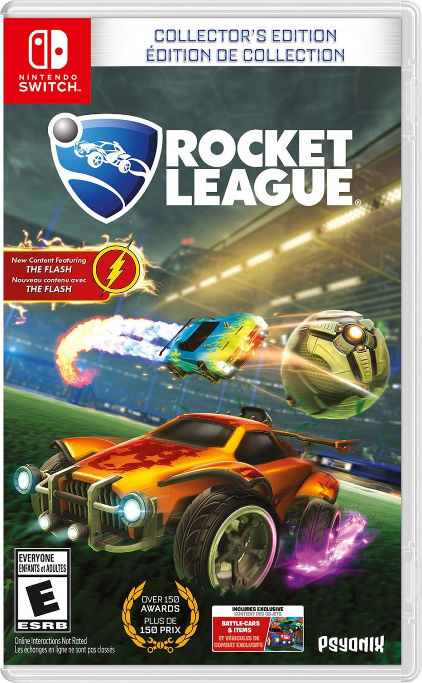 Jaquette de Rocket League édition Collector sur Nintendo Switch