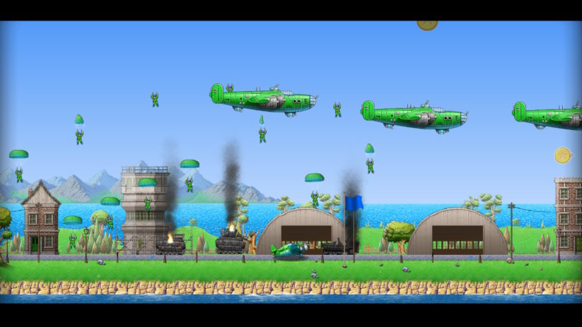 Jeu Rogue Aces sur Nintendo Switch : parachutistes en pagaille