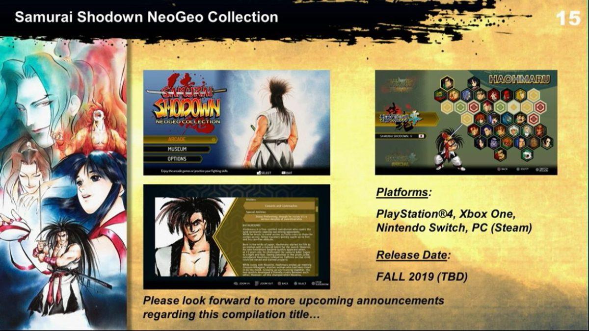 Samurai Shodown NeoGeo Collection annoncé sur Nintendo Switch