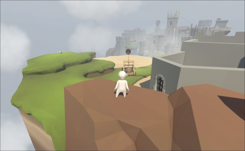 Screenshot du jeu Human Fall Flat sur Nintendo Switch : panorama