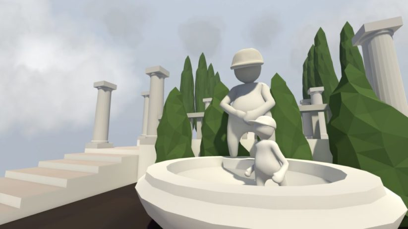 Screenshot du jeu Human Fall Flat sur Nintendo Switch : statue