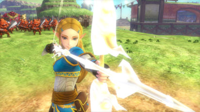 Screenshot du jeu Hyrule Warriors: Definitive Edition sur Nintendo Switch : Princesse Zelda et son arc