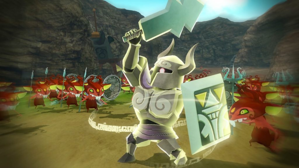 Screenshot du jeu Hyrule Warriors: Definitive Edition sur Nintendo Switch : Link portant l'Armure de Spectre