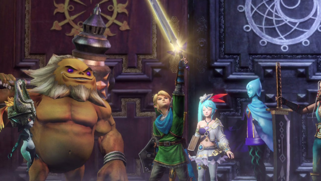 Screenshot du jeu Hyrule Warriors: Definitive Edition sur Nintendo Switch : Link et ses amis