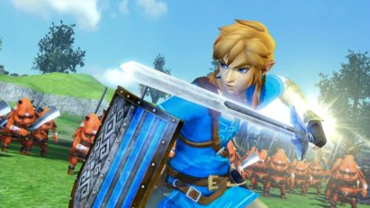 Screenshot du jeu Hyrule Warriors: Definitive Edition sur Nintendo Switch : Link et son épée