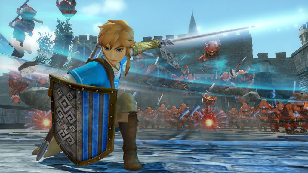 Screenshot du jeu Hyrule Warriors: Definitive Edition sur Nintendo Switch : Link combat avec son épée