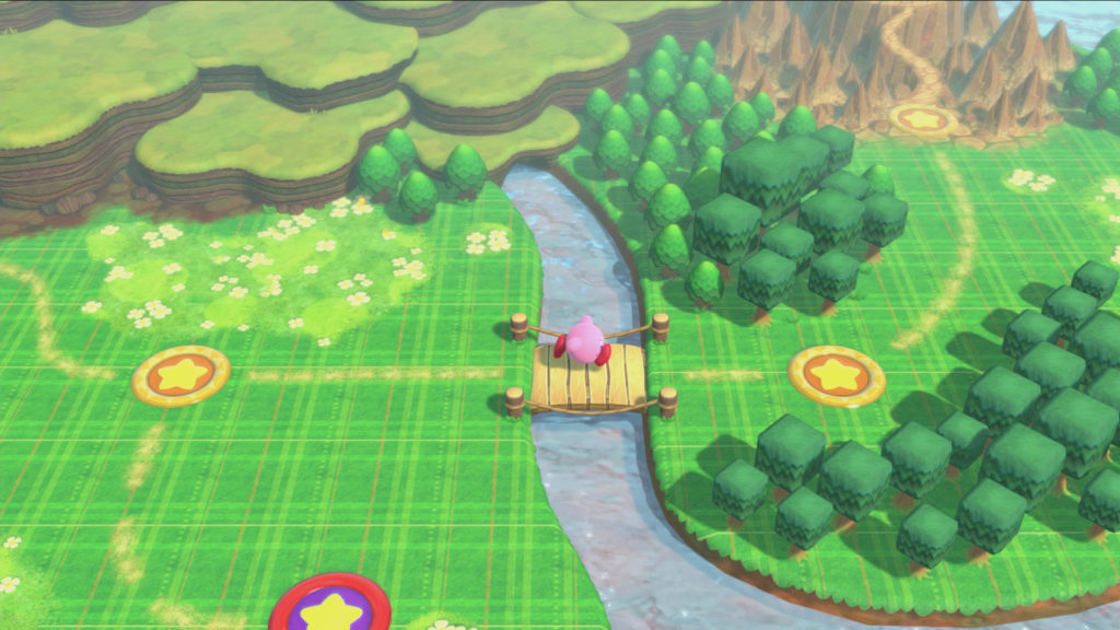 Screenshot du jeu Kirby Star Allies sur Nintendo Switch : map