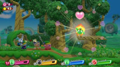Jeu Kirby Star Allies sur Nintendo Switch : adversaire converti