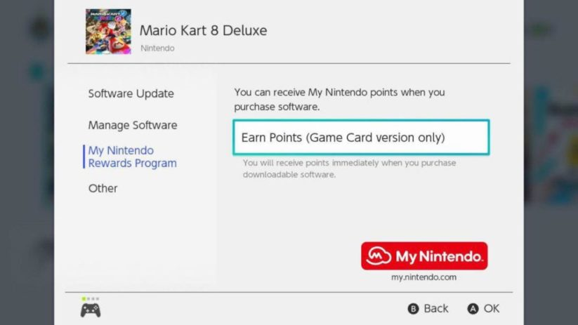 Points Or My Nintendo : screenshot depuis le jeu