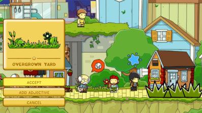 Capture d'écran de Scribblenauts Mega Pack : une énigme dans un jardin