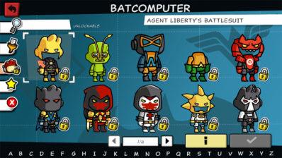 Capture d'écran de Scribblenauts Mega Pack : le choix des costumes