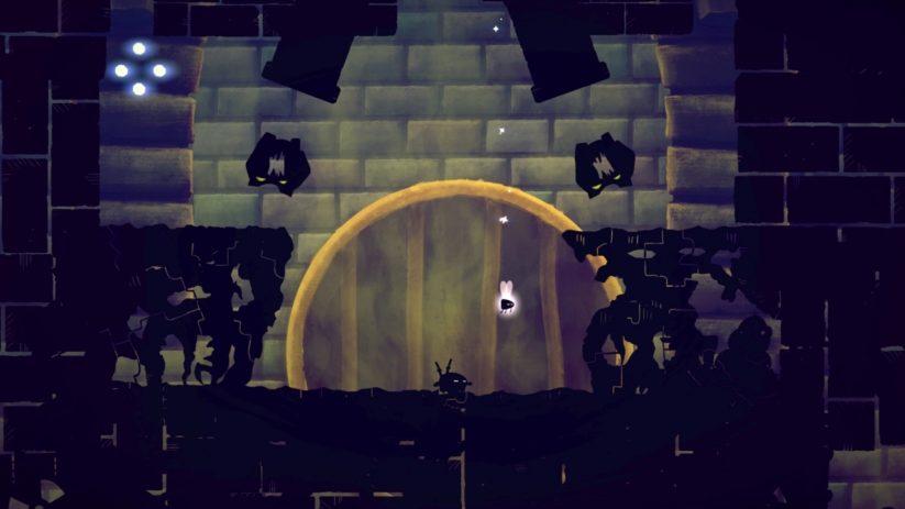 Jeu Shadow Bug sur Nintendo Switch : petite pause au sol