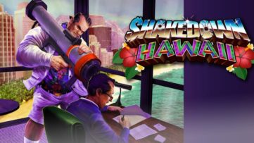 Jeu Shakedown Hawaii sur Nintendo Switch : artwork du jeu