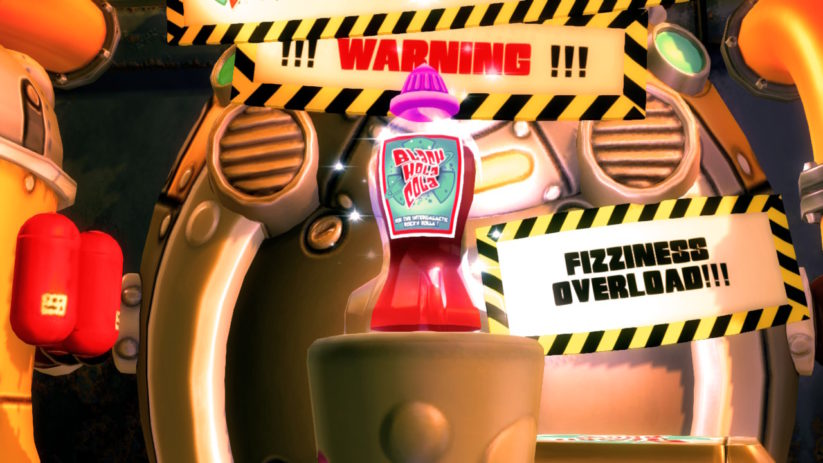 Jeu Shiftlings Enhanced Edition sur Nintendo Switch : bouteille de Black Hola Cola