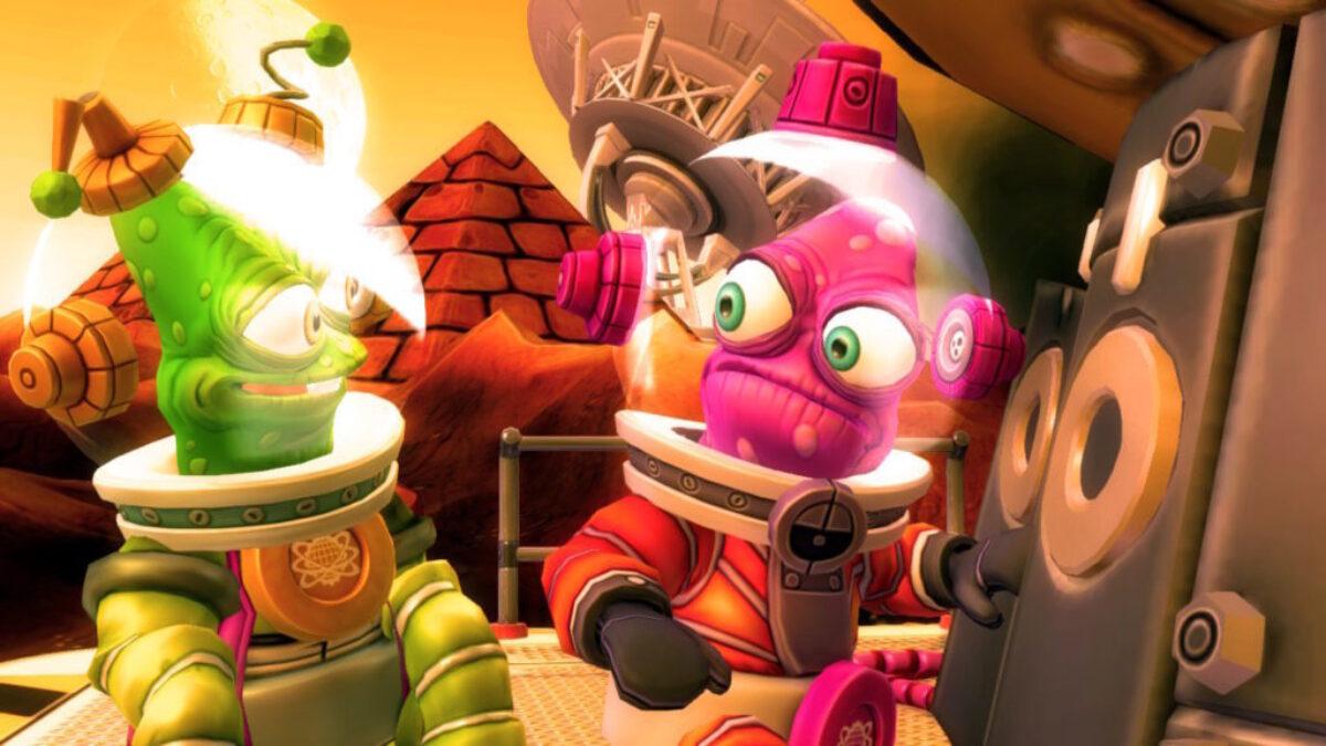 Jeu Shiftlings Enhanced Edition sur Nintendo Switch : deux personnages hauts en couleurs