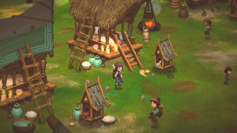 Jeu Smoke and Sacrifice sur Nintendo Switch : visite du village de Sachi