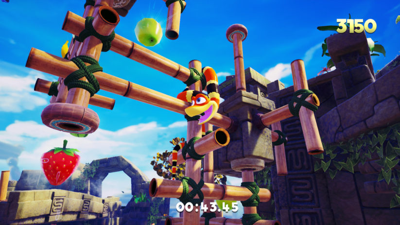 Snake Pass : gameplay du mode arcarde 1