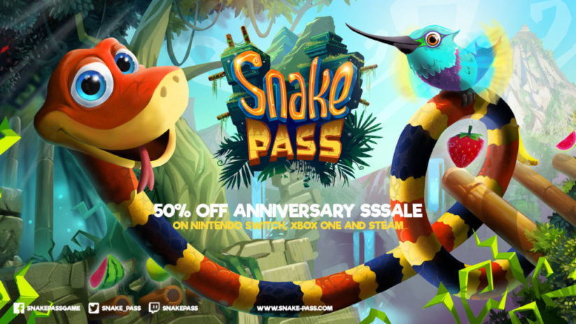 Snake Pass sur Nintendo Switch : promotion -50%