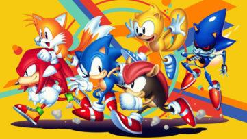 Jeu Sonic Mania Plus sur Nintendo Switch : artwork des personnages