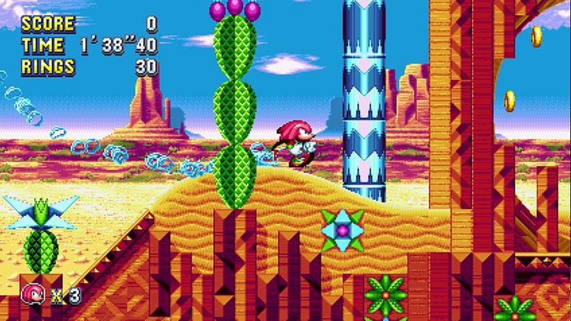 Jeu Sonic Mania Plus sur Nintendo Switch : un tatou dans le désert