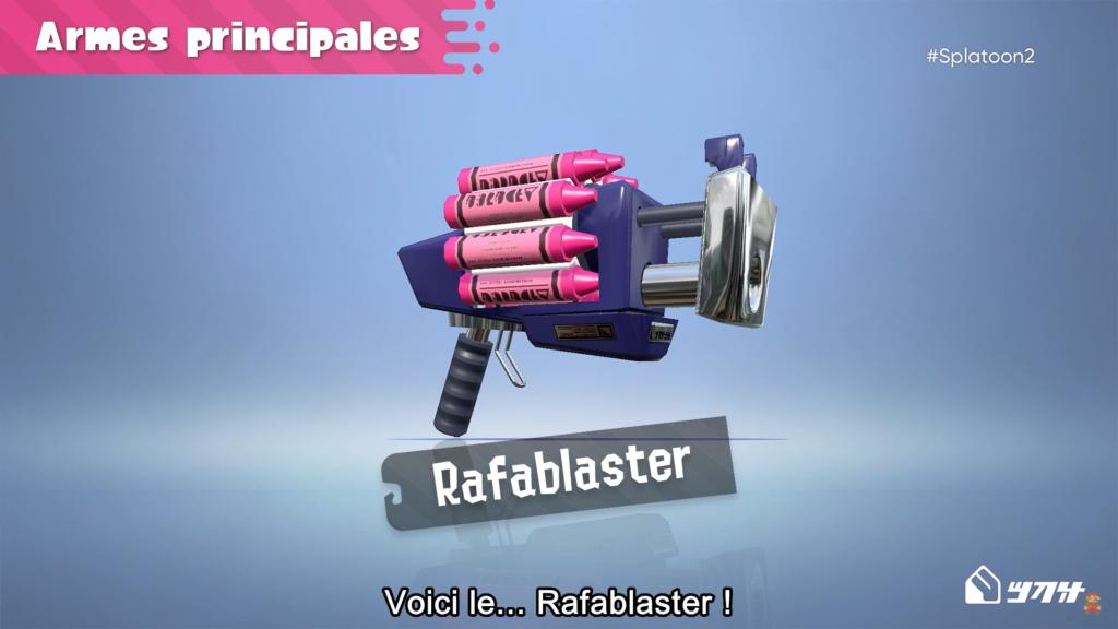 Splatoon 2 : arme principale Rafablaster