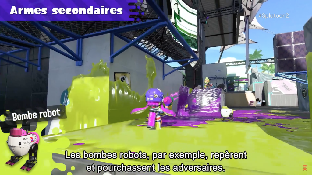 Splatoon 2 : arme secondaire Bombe robot