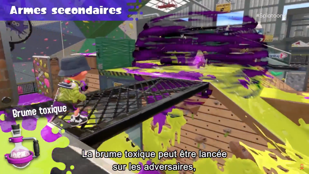Splatoon 2 : arme secondaire Brume toxique