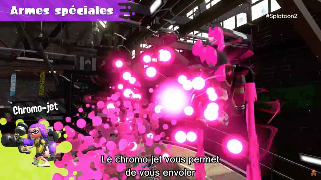 Splatoon 2 : arme spéciale Chromo-jet