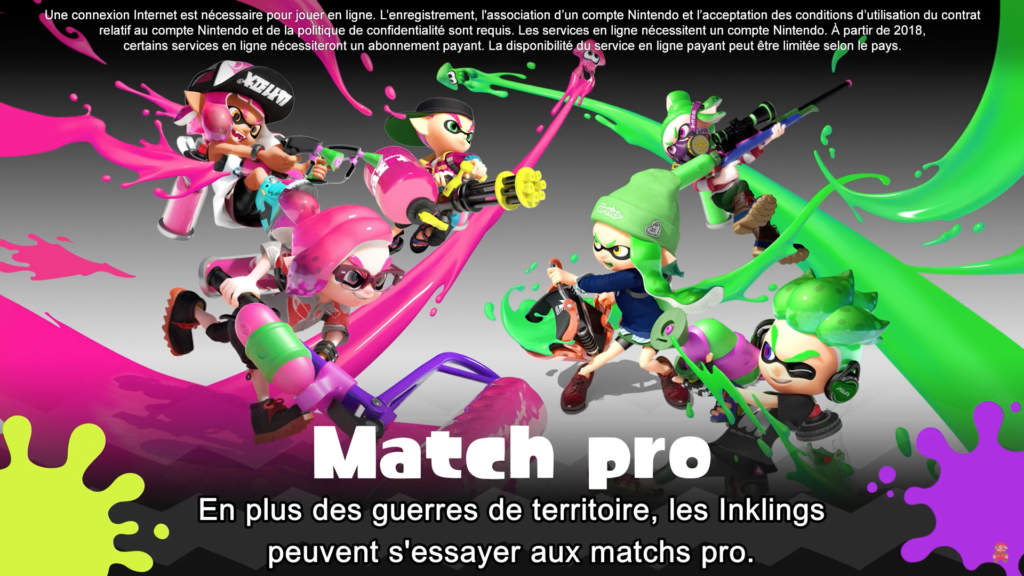 Splatoon 2 : mode de jeu Match pro