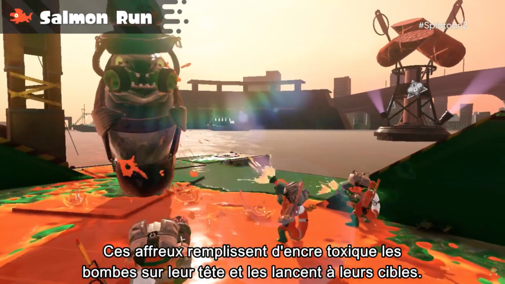 Splatoon 2 : Salmon run et tête de pneu